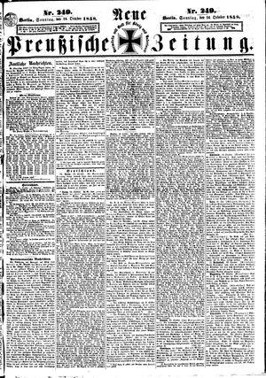 Neue preußische Zeitung vom 24.10.1858