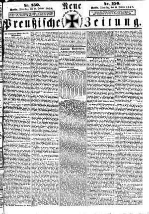 Neue preußische Zeitung vom 26.10.1858