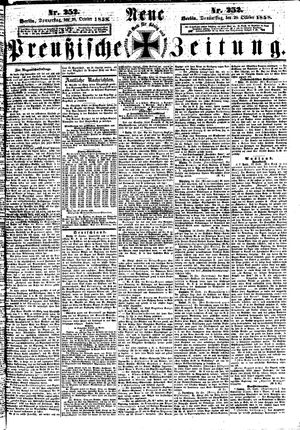 Neue preußische Zeitung on Oct 28, 1858