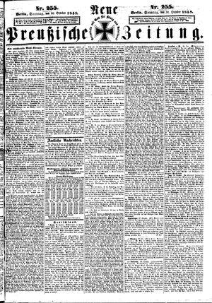 Neue preußische Zeitung vom 31.10.1858