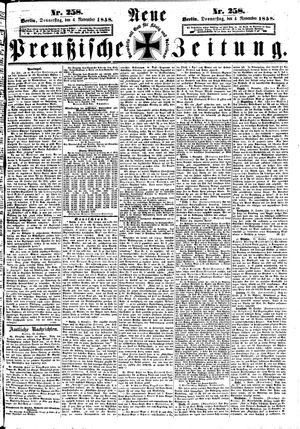 Neue preußische Zeitung on Nov 4, 1858