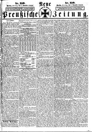 Neue preußische Zeitung vom 05.11.1858