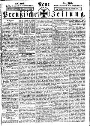 Neue preußische Zeitung vom 06.11.1858