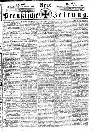 Neue preußische Zeitung vom 09.11.1858