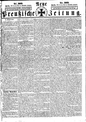 Neue preußische Zeitung vom 10.11.1858