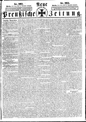 Neue preußische Zeitung vom 12.11.1858