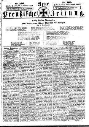 Neue preußische Zeitung vom 14.11.1858