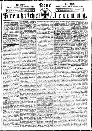 Neue preußische Zeitung vom 16.11.1858