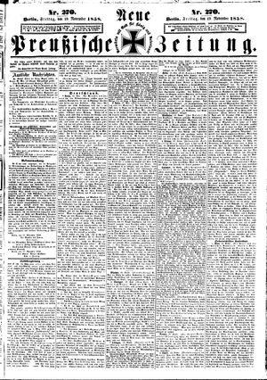 Neue preußische Zeitung vom 19.11.1858
