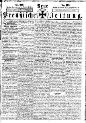 Neue preußische Zeitung vom 21.11.1858