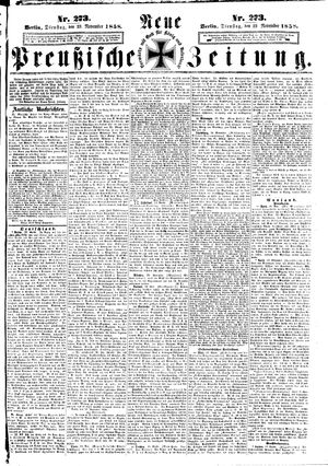 Neue preußische Zeitung vom 23.11.1858