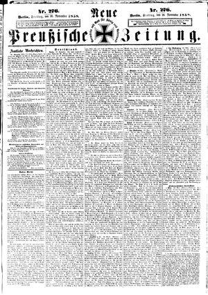 Neue preußische Zeitung on Nov 26, 1858