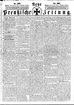 Neue preußische Zeitung vom 27.11.1858