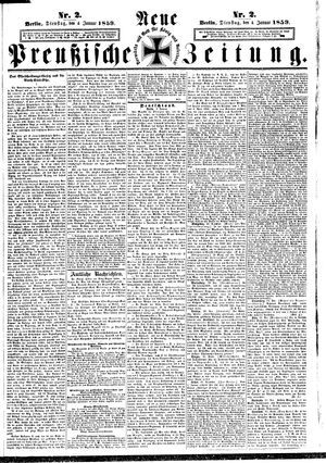 Neue preußische Zeitung vom 04.01.1859