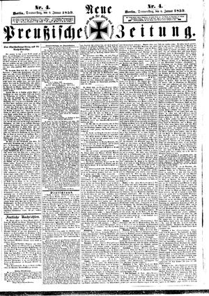 Neue preußische Zeitung vom 06.01.1859