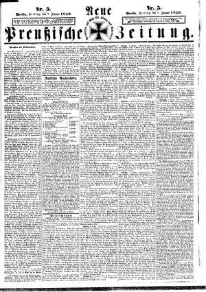 Neue preußische Zeitung vom 07.01.1859