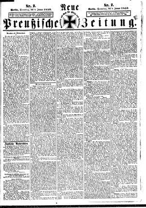 Neue preußische Zeitung vom 09.01.1859