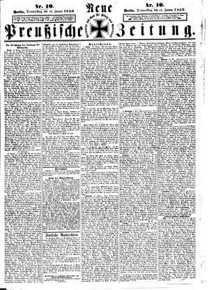 Neue preußische Zeitung vom 13.01.1859