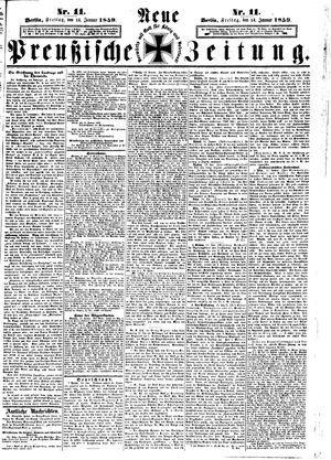 Neue preußische Zeitung vom 14.01.1859