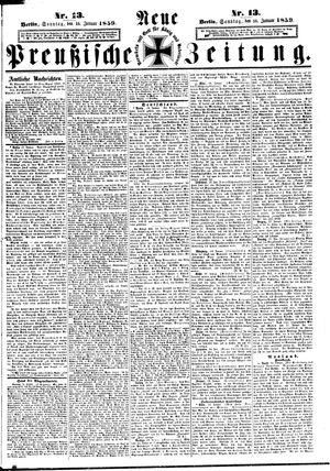 Neue preußische Zeitung on Jan 16, 1859