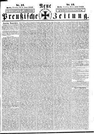 Neue preußische Zeitung vom 18.01.1859