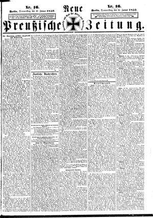 Neue preußische Zeitung vom 20.01.1859