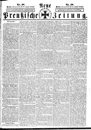 Neue preußische Zeitung vom 22.01.1859