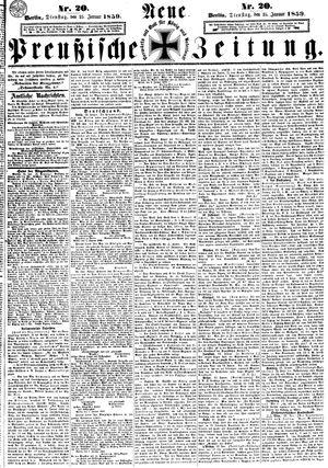 Neue preußische Zeitung vom 25.01.1859