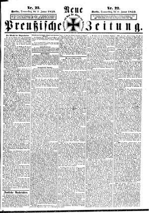 Neue preußische Zeitung vom 27.01.1859