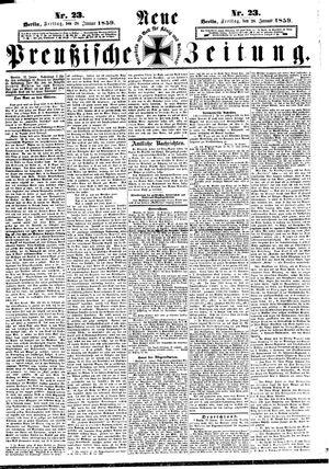 Neue preußische Zeitung vom 28.01.1859