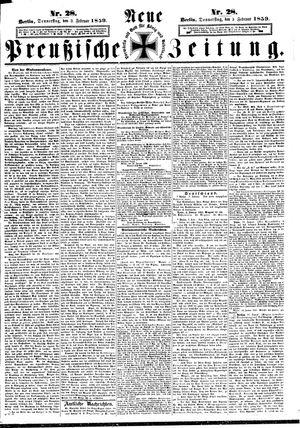 Neue preußische Zeitung on Feb 3, 1859
