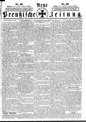 Neue preußische Zeitung vom 04.02.1859