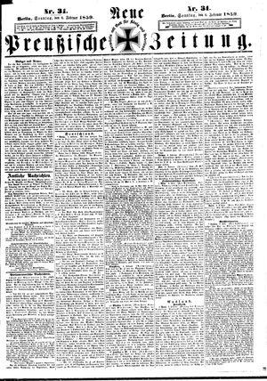 Neue preußische Zeitung vom 06.02.1859
