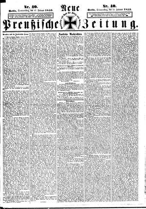 Neue preußische Zeitung vom 17.02.1859