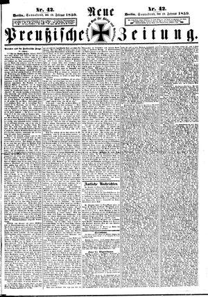 Neue preußische Zeitung vom 19.02.1859