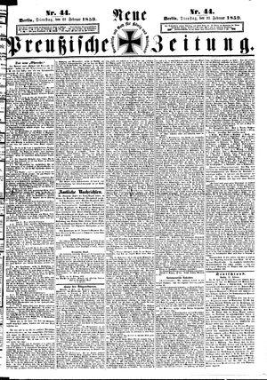 Neue preußische Zeitung vom 22.02.1859