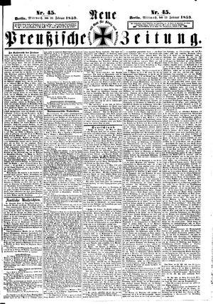 Neue preußische Zeitung on Feb 23, 1859