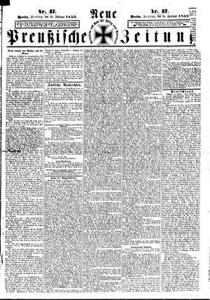 Neue preußische Zeitung vom 25.02.1859