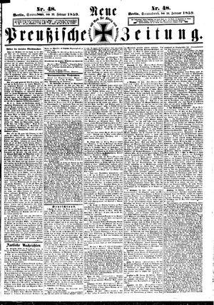 Neue preußische Zeitung vom 26.02.1859