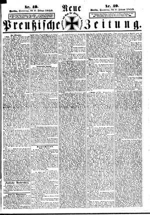 Neue preußische Zeitung vom 27.02.1859