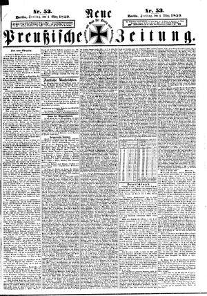 Neue preußische Zeitung vom 04.03.1859