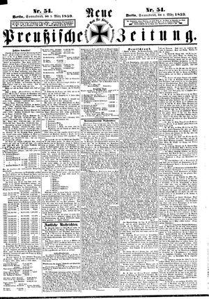 Neue preußische Zeitung vom 05.03.1859