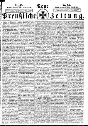 Neue preußische Zeitung vom 06.03.1859