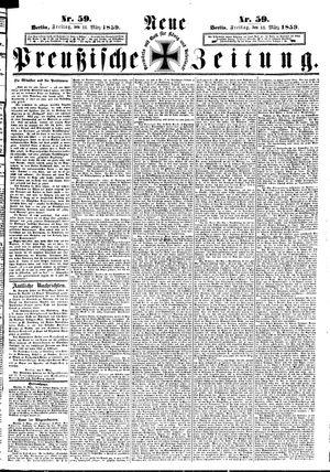 Neue preußische Zeitung on Mar 11, 1859