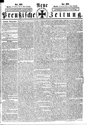 Neue preußische Zeitung on Mar 15, 1859