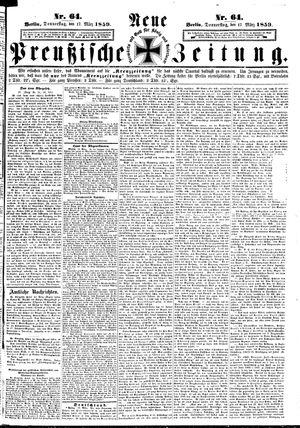 Neue preußische Zeitung on Mar 17, 1859