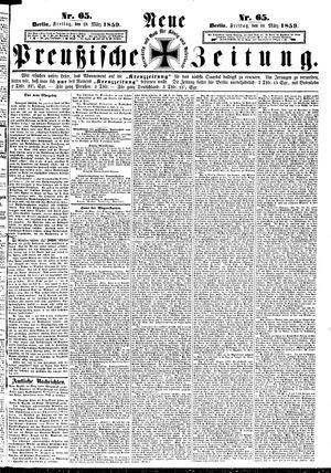 Neue preußische Zeitung vom 18.03.1859
