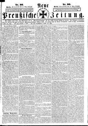 Neue preußische Zeitung vom 19.03.1859