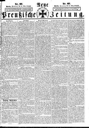 Neue preußische Zeitung vom 20.03.1859