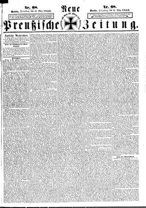 Neue preußische Zeitung vom 22.03.1859